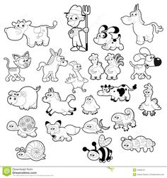 Baby Animal Clipart Black And White - Gallery