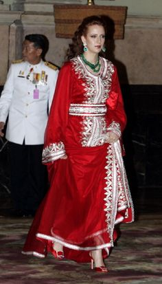 Princess Lalla Salma of Morocco at The Chakri Maha Prasat Throne Hall in Thailand