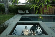 Rectangular Pool, Square Spa Shades of Green Landscape Architecture Sausalito, CA Square Pool, Rectangle Pool, Pool Coping, Living Pool, Outdoor Living, Modern Landscaping, Pool Landscaping, California San Francisco, Geometric Pool