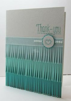 Ombre Fringe Thank You Card via Song of My Heart