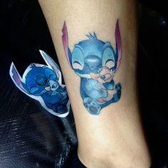 Algo que hubo en la expo tattoo San Andrés #stich #tattoo #toontattoo #disneytattoo #liloystich