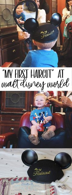 """my first haircut"" at walt disney world's magic kingdom harmony barbershop"