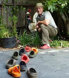 Garden boots of the rich (?) and famous Garden Boots, Garden Hose, Crocs, Outdoor, Outdoors, Outdoor Games, Outdoor Living
