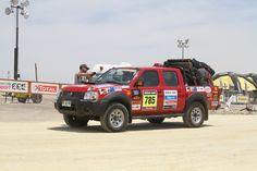 Camioneta en el Dakar.