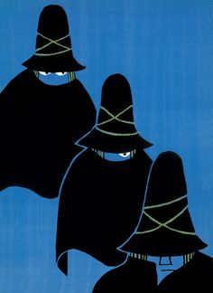 Tomi Ungerer - The Three Robbers (1962) -my favourite book as a child. I used to ask my mother to read it to me over and over again.