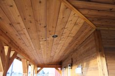 This is our 1x10 Channel Rustic Cedar. Cedar makes for great soffit.