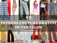 Made in france: Couture Femme Sewing Pants, Easy Sewing Patterns, Free Pattern, Paisley, Chiffon, Crochet, Blog, Passion, France