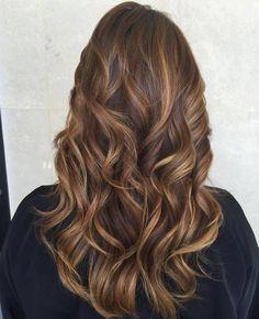 Caramel Highlights Long Hair