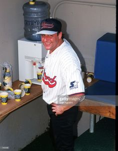 Actor <a gi-track='captionPersonalityLinkClicked' href='/galleries/personality/1541923' ng-click='$event.stopPropagation()'>Judd Nelson</a> smiles June 29, 1996 in New York City. Celebrities played baseball at Yankee Stadium with the proceeds benefitting charity.