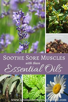 Best essential oils for sore muscles