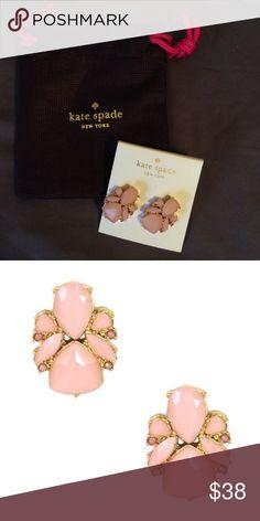 NWT Kate Spade Pink Jeweled Earrings Super cute NWT Kate Spade Color Pop Light Pink Studs. Comes with jewelry dust bag. kate spade Jewelry Earrings