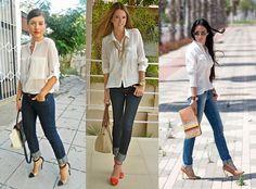 Jeans com a barra dobrada