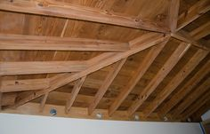 Open Beam Ceiling Ideas | It just took two trips to Sherwin Williams to get the right color ...