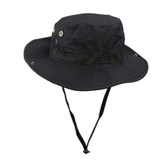 AntWalking Boonie Bucket Hat Military Fishing Camping Hunting Wide Brim Bucket Men Outdoor Sun-shading Sun Hat Travel Cap Fishing Cap *** Read more reviews of the product by visiting the link on the image.