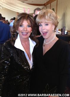 Barbara with her good friend, Dawn Wells, best known as Mary Ann from Gilligan's Island. The two were co-presenters at the 2012 Saturn Awards. (July 26, 2012)