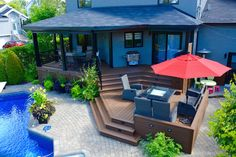 We specialise in multi-level deck and patio since 200 pictures, ideas & images. Patio Plus, Deck Pictures, New Deck, Construction, Pool Decks, Outdoor Living, Outdoor Decor, Garden Structures, Deck Design