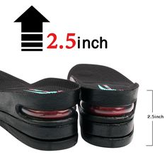 uk availability beb88 78a57 Footinsole 3 Layered 2.5 Inch Height Increase Insole Air Cushion Shoe  Insert Men  footinsole Feet