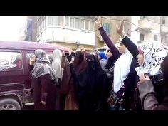 وقفه نسائيه بشارع صلاح الدين لتجديد مطالب ثورة ٢٥ يناير 26-1-2015