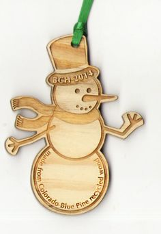 Beetle-Kill Pine Wood Ornament - customized with your logo / artwork laser engraved! We have a variety of wood species options available as well. Wooden Ornaments, Engraved Gifts, Fort Collins, How To Make Ornaments, Wood Species, Laser Engraving, Beetle, Pine, Favors
