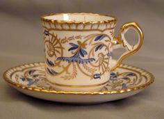 Spode Regency Gold & Blue Demitasse Cup & Saucer - Y6170   eBay