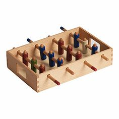 Wooden football game