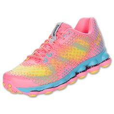 Women's Reebok DMX Sky Running Shoes| Finish Line | Pink Zung/Solar Green/Watery Blue