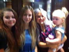 Gemma, Lou and Lux with a fan