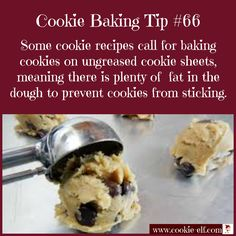 Cookie Baking Tip #66: the reason you don't need to grease cookie sheets (sometimes). More cookie baking tips: http://www.cookie-elf.com/baking-cookies-tips.html#sthash.JUJTxDui.dpbs