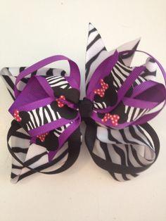 awesome zebra bow!