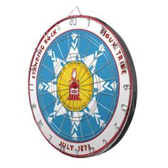 Standing Rock Sioux Dart Boards Native American Indians Tribe indigenous flag