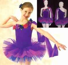 Pretty Posy Dance Costume Ballet Tutu with Drape & Flowers Adult Large Clearance #CurtainCall