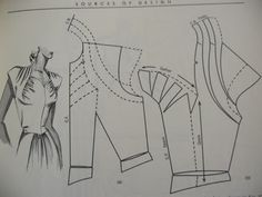 Pattern making guide for vintage bodice.