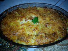 Οι λιχουδιές της Μαριφάνης: Πέννες Ογκρατέν!!! Mashed Potatoes, Macaroni And Cheese, Breakfast, Ethnic Recipes, Food, Whipped Potatoes, Mac Cheese, Smash Potatoes, Mac And Cheese