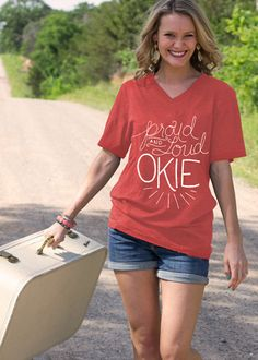 S-XXL *FREE Shipping www.countrylace.co. Proud and Loud OKIE