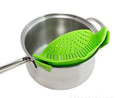 SIMPLE STRAINER - The Best Clip-on Green Silicone Pasta S... https://www.amazon.com/dp/B01J2NBXQK/ref=cm_sw_r_pi_dp_x_kIA2ybRKY0MB7