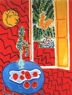 Matisse, Red Interior, Still Life on a Blue Table, 1947