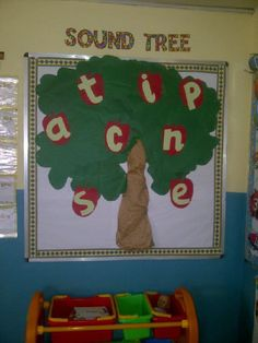 A super Sound Tree classroom display photo contribution. Great ideas for your classroom! Phonics Display, Literacy Display, Reading Display, Reading Tree, Infant Classroom, Classroom Layout, Preschool Classroom, Kindergarten, Preschool Displays