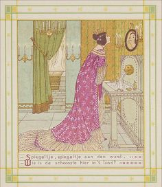 Sneeuwwitje is illustrated by W.C. Drupsteen and is one of the most beautiful editions of Snow White in the fairytale collection housed at the National library of the Netherlands - The European Library