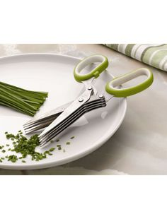 Herb Scissors! I know it's cheating, but it'd sure make chopping herbs easier (: