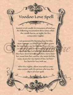 Hoodoo Magick Rootwork:  #Voodoo Love Spell.