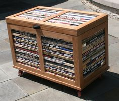 Custom Made Cherry Chest With Hockey Stick Accent by Chair Built Custom Woodworking | CustomMade.com