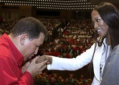 Chavez with Naomi Campbell