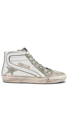 Slide Sneaker Golden Goose Collections - Click to Shop #affiliatelink Casual Street Style, Golden Goose, Italian Leather, French Terry, Designing Women, Chic Outfits, Fashion Forward, Shoes Sneakers, Lace Up