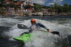Kayaking through downtown Pagosa on the San Juan River
