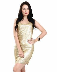 Faballey Women s Sequin Zippered Dress Small Gold Gold Sequins 419bf85e7