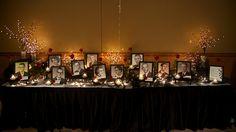 Memory table. LOVE the lighting