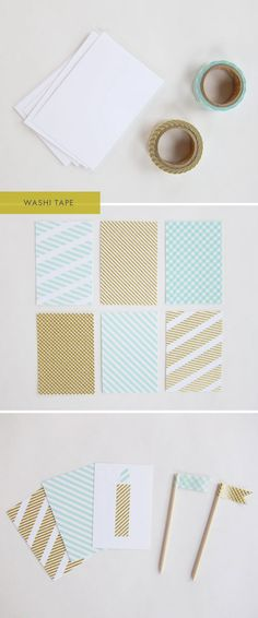 Washi Tape - DIY Notecard Design Inspiration