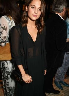 Alicia Vikander - Burnt Afterparty at Tredwel's in London