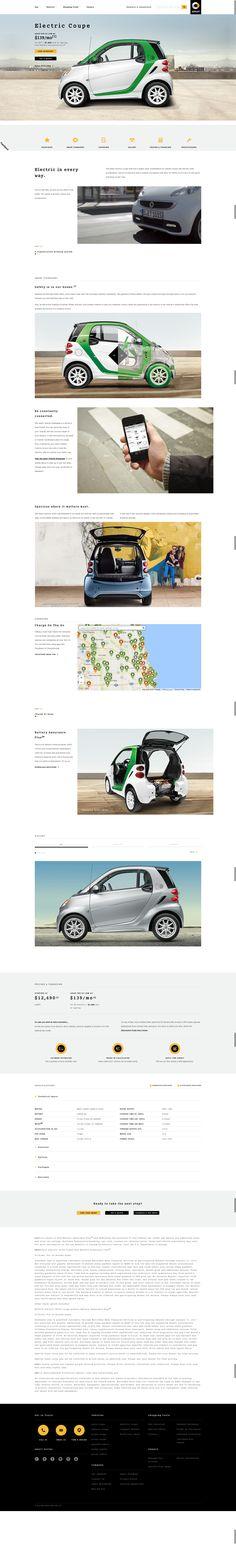 Smart Car Responsive Website Long Form Page Design
