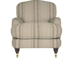 Made to order sofas - Wexford Upholstered Occasional Chair in Hadley Stripe Natural | Laura Ashley